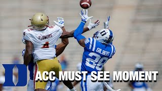 Duke DB Mark Gilbert Gets First INT Since 2017 | ACC Must See Moment