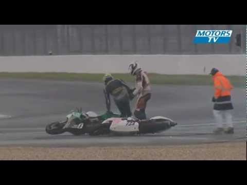Funny Motorcycle Race Crash - YouTube