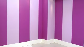 Cómo pintar la pared con líneas verticales - Decogarden