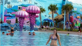the big blue pool video tour disney s art of animation resort walt disney world