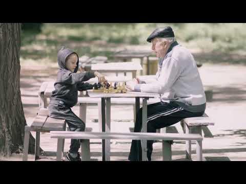 Дедушка и внук.