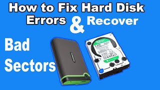 How to fix error Hard disk :How to recover bad sectors from HDD