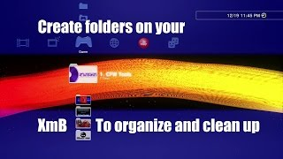 PS3 Tutorial How to create make folders / Albums on XMB - organize music vids homebrew apps etc