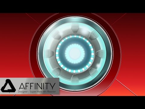 Affinity Designer Super Hero Arc Reactor Tutorial Part 1