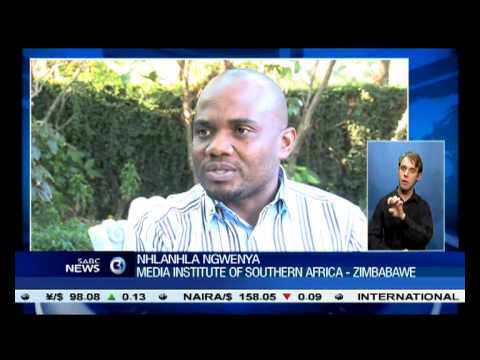 Zimbabwe media's call on that country's government to scrap repressive media laws