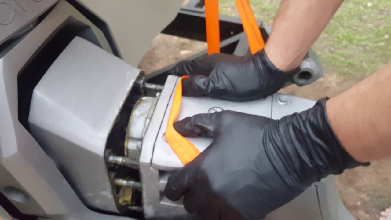 small resolution of omc cobra volvo penta sx stern drive removal part 2