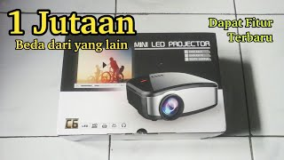 Unboxing Cheerlux C6 mini projector + TV HD Portable + Lcd 1200 Lumens