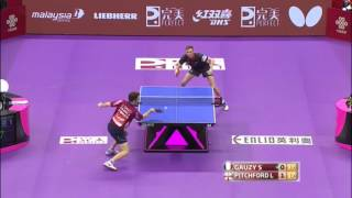 2016 World Championships Highlights: Simon Gauzy vs Liam Pitchford(Relive all the Perfect 2016 World Team Table Tennis Championships highlights from the Mens 1/4 match between France & England featuring Simon Gauzy vs ..., 2016-03-04T18:41:03.000Z)