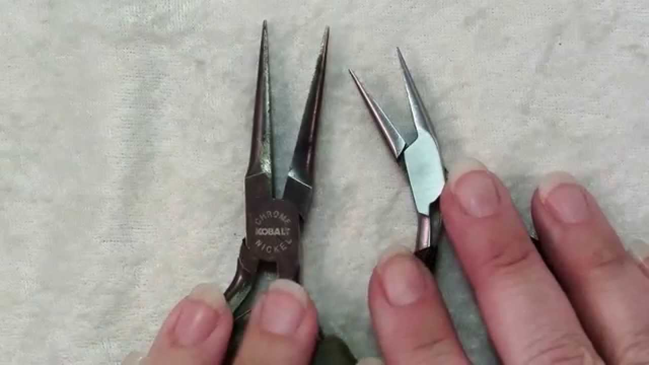 How To Use Chain Nose Pliers Jewelry Tools Youtube