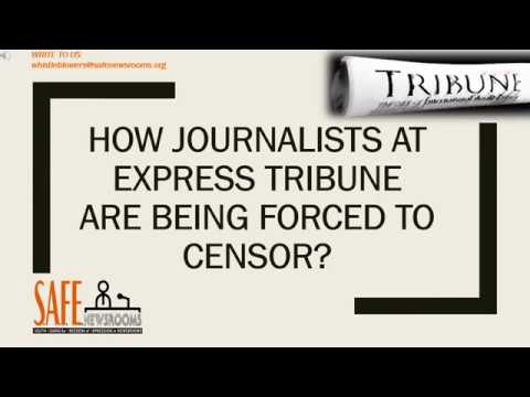 Whistleblow for us: Express Tribune staffer talks to us about censorship at organization