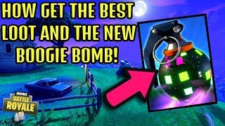 HOW TO GET BOOGIE BOMB EVERY TIME in FORTNITE BATTLE ROYALE! (ALL CHEST LOCATIONS)