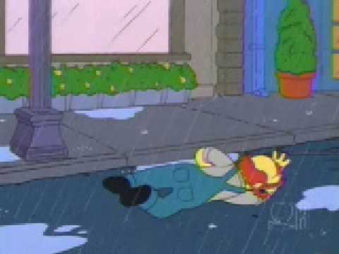 The Simpsons -  Willie singing in the rain (funny)