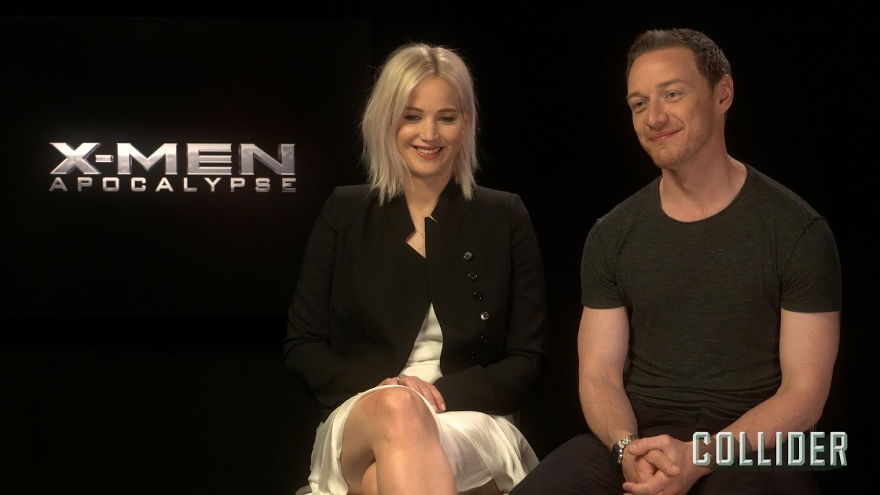 ee03e5f55a8 Jennifer Lawrence and James McAvoy on  X-Men  Apocalypse