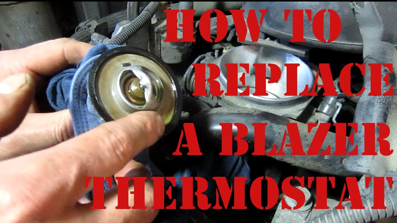 diy how to replace a thermostat on a chevy blazer s10 gmc jimmy 4 3 vortec  oldsmobile bravada