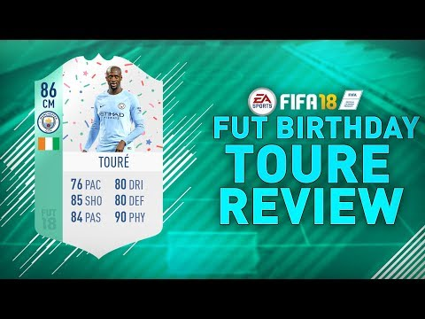 FUT BIRTHDAY TOURE (86) REVIEW!!   FIFA 18 FUT BIRTHDAY TOURE PLAYER REVIEW
