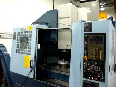 Matsuura MC 660VG with 20,000rpm spindle & I-Z-2 software.MPG