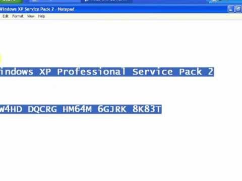 windows xp sp3 product key list