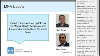 Webinar recording: upcoming changes to the Mental Health and Mental Capacity Act