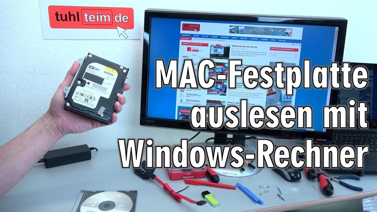 mac festplatte auslesen mit windows rechner mit. Black Bedroom Furniture Sets. Home Design Ideas