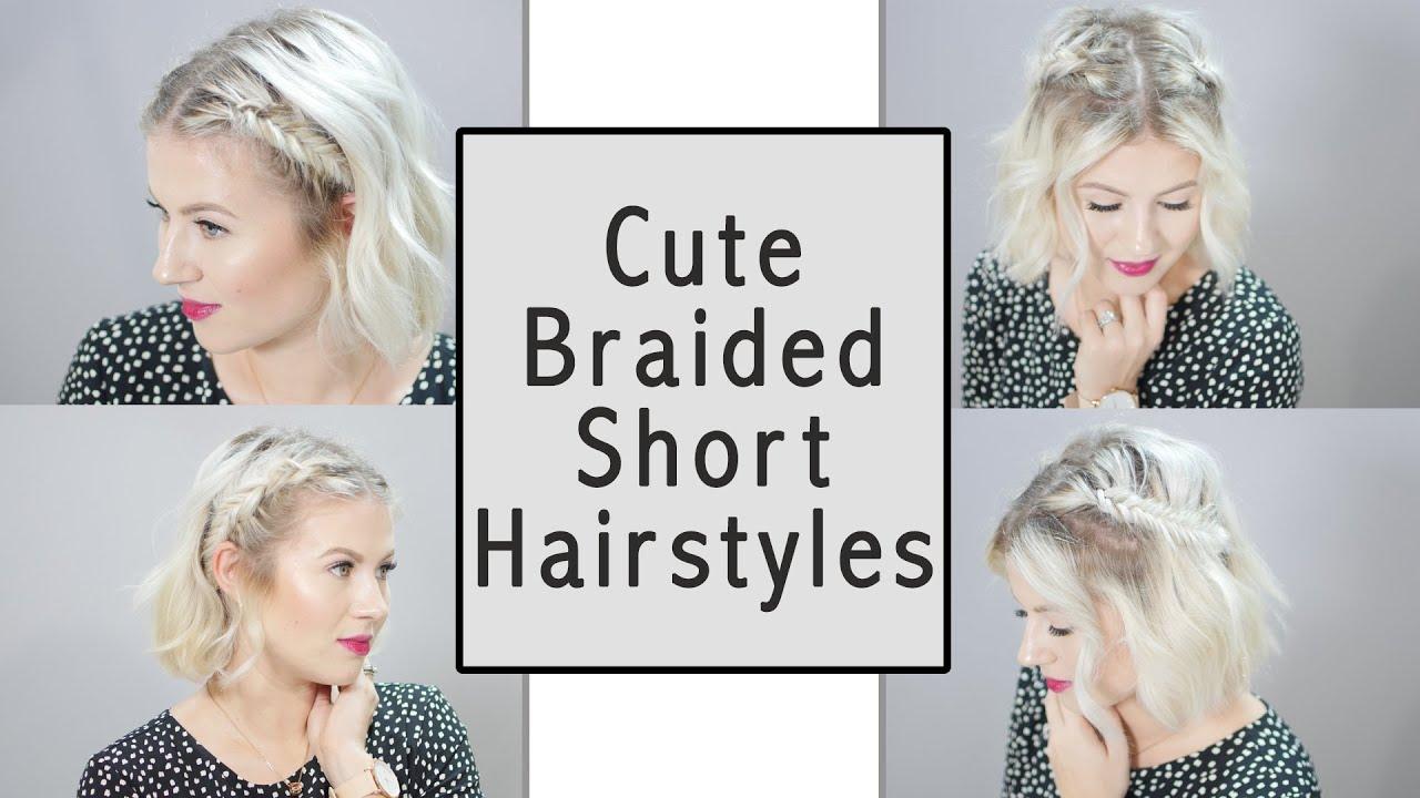 cute braided short hairstyles | milabu - youtube