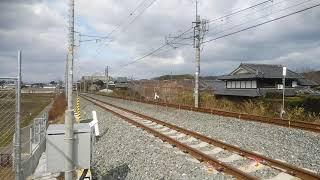 今日のJR奈良線 2021/1/27 複線化 山城多賀 ~ 玉水 複線化 205系 国鉄