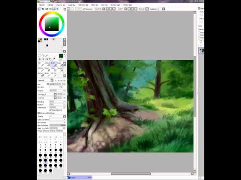 Landscape- painting practice in SAI
