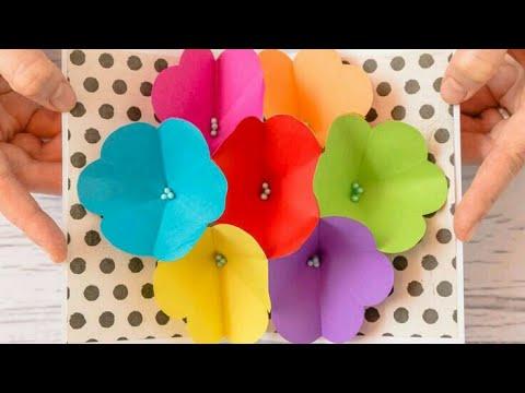 Tarjeta Pop Up Flores En 3d Diy Regalos Faciles Y Rapidos