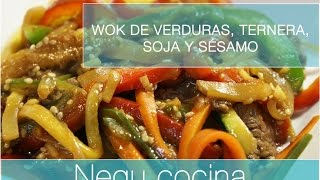 Wok de verduras con soja fácil y rápido