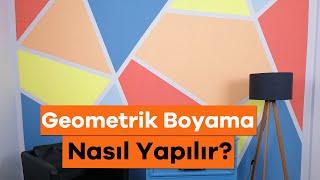 Geometrik Duvar Boyama Nasıl Yapılır? - Duvar Boyama Teknikleri