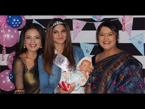 Celebrating Baby Shower With Jennifer Winget In Serial Beyhadh