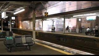 【爆発】架線トラブルで凄絶な火花が散る 琵琶湖線瀬田駅 thumbnail