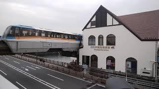 東京モノレール1001編成LastRun張り紙付き大井競馬場前発車