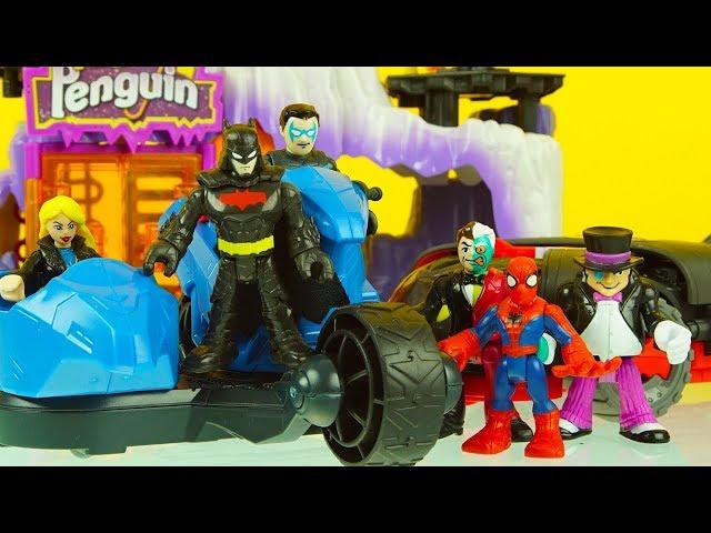 Batmobile Lex Luthor Robot Batboat Imaginext DC Super Friends Batman Batwing