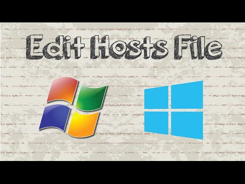 How To Edit Hosts File In Windows 7 / 8