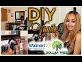 DOLLAR TREE & WALMART DIY Vanity Set Up - Vanity On A Budget! ♥︎ ♥︎   | Kym Yvonne