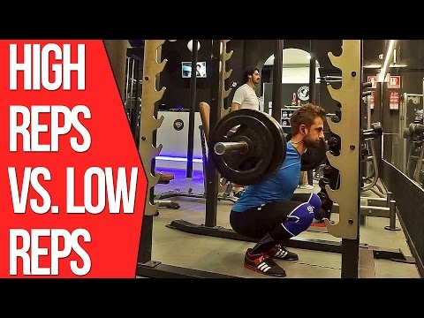 Lower Body Deload Workout (High Reps Vs Low Reps For Building Muscle Mass)