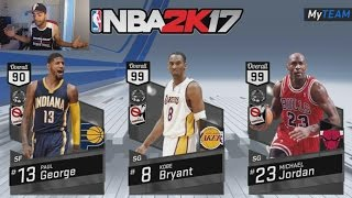 Nba 2k17 Myteam Cards REVEALED! 99 Overall Michael Jordan and Kobe Bryant Free Agent CARDS
