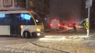 6 Ocak 2017 İstanbul Yoğun Kar Yağışı