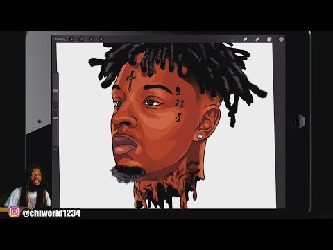 21 Savage - HOW TO CARTOON YOURSELF / VECTOR STYLE /PROCREATE TUTORIAL Mp3