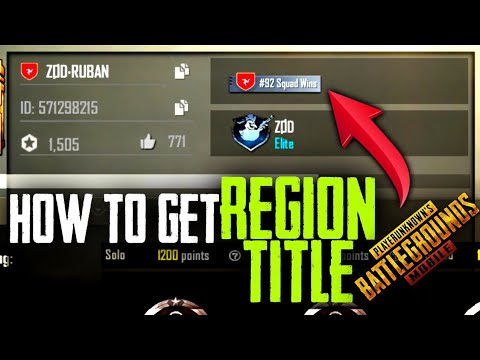 HOW TO GET REGION TITLE EASILY IN PUBG MOBILE•FUTURE GAMING