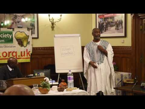 Omowale (PASCF) speaks at the Houses of Parliament