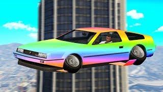 The Rare $3,000,000 Rainbow Flying Car! (GTA RP)