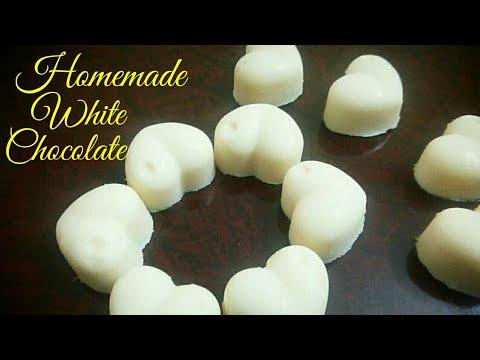 White chocolate recipe| Homemade white chocolates| Quick and easy white chocolate recipe| Chocolate|