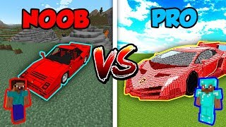 Minecraft NOOB vs. PRO: SPORTS CAR in Minecraft!