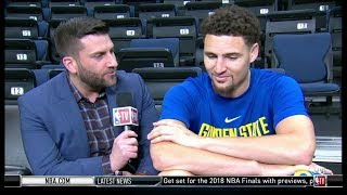 klay thompson interview game 1 preview warriors vs cavaliers 2018 nba finals