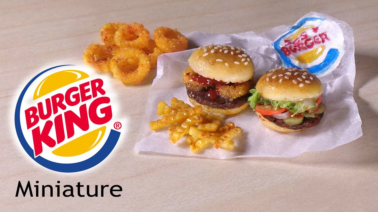 1:12 CROISSAN&#39-WICH from Burger King / Miniature Food from Polymer ...