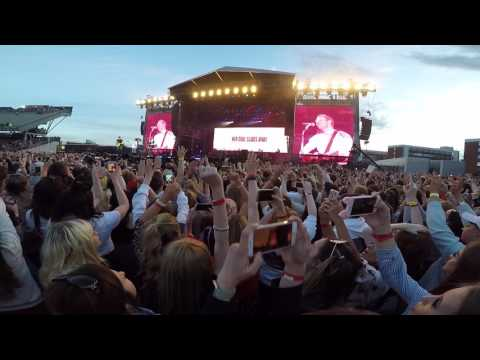 Coldplay Performing Don't Look Back In Anger @ One Love Manchester 04/06/2017