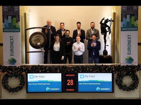 Sounding of the gong for Da Vinci Derivatives