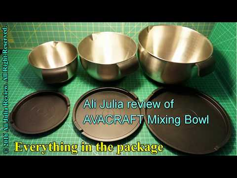 AVACRAFT 18/10 Stainless Steel Mixing Bowl set with Lids