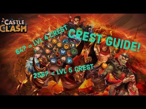 Castle Clash Crest Guide